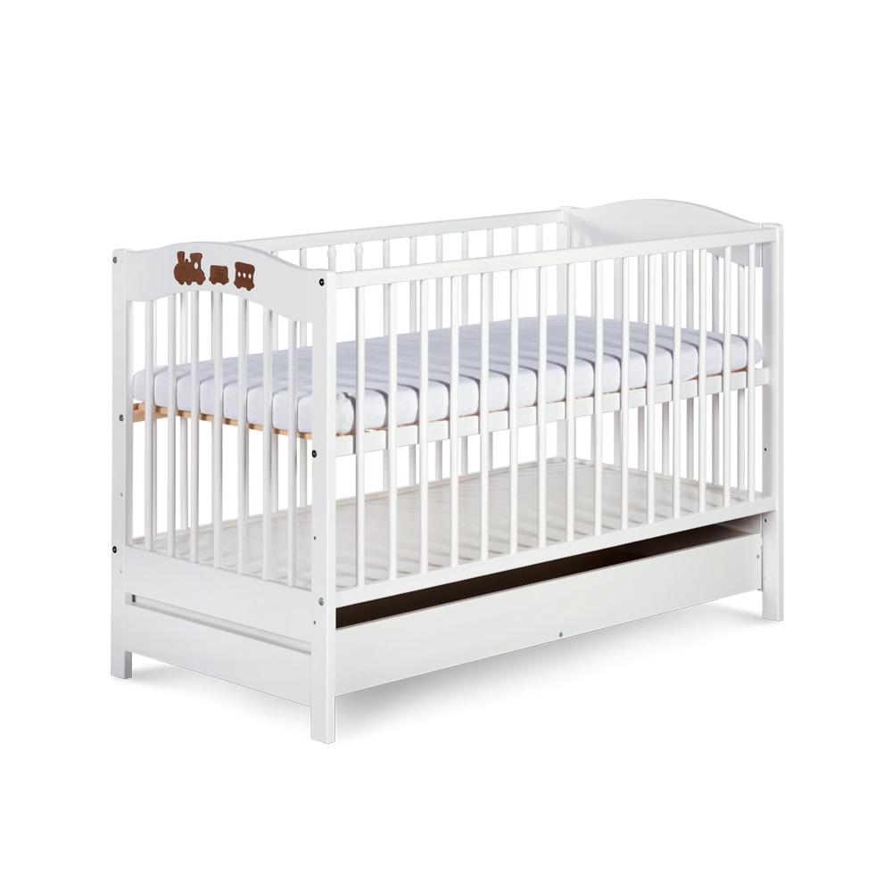 Dziecięce łóżeczko drewniane z szufladą Radek V firmy Klupś