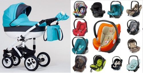 Wózek dzieciecy Melody Paradise Baby gondola + fotelik z testami ADAC 0-13 kg