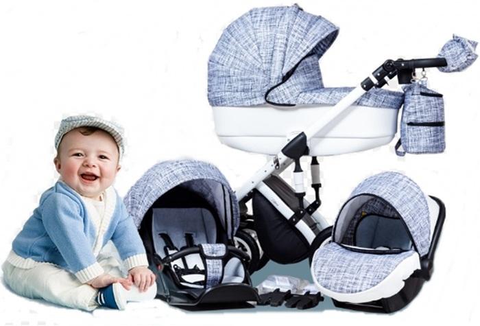 Wózek dziecięcy 3w1  głęboko-spacerowy + fotelik Carlo 0-10 kg Euforia, Paradise Baby