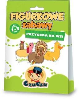 Figurkowe zabawy dla dzieci CzuCzu 1-3 lat - przygoda na wsi - figurki do kolorowania
