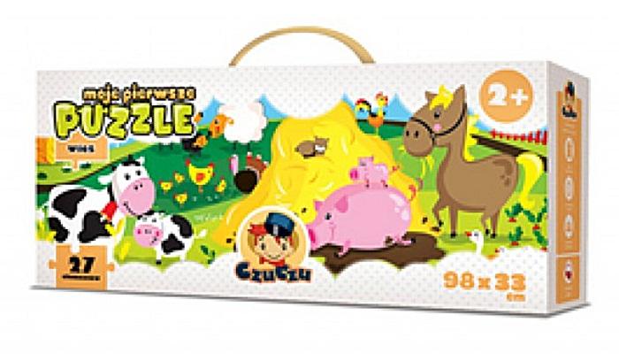 Moje pierwsze puzzle CzuCzu dla dzieci od 2 lat - wieś 98 x 33 cm - 27 elementów