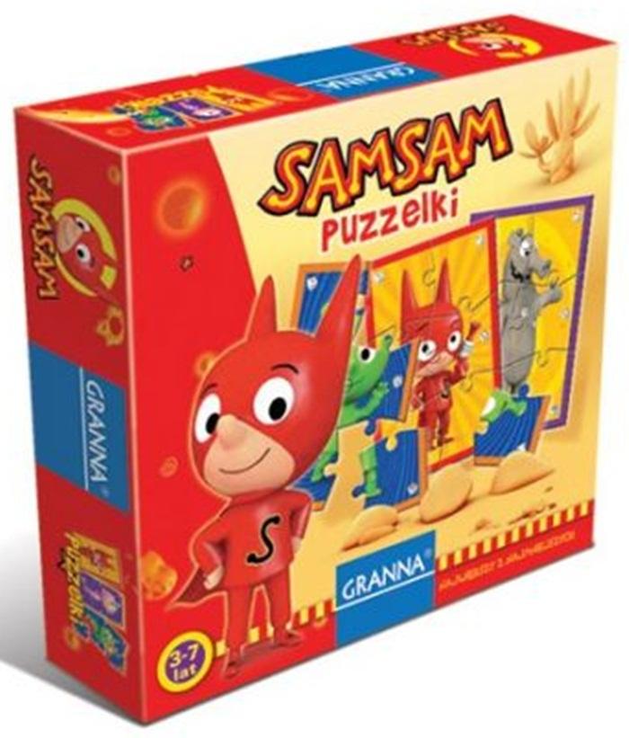 SamSam Puzzelki – świetna zabawa dla najmłodszych 3-7 lat