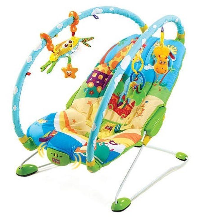 Leżeczek dla niemowląt z wibracjami i zabawkami Tiny Love