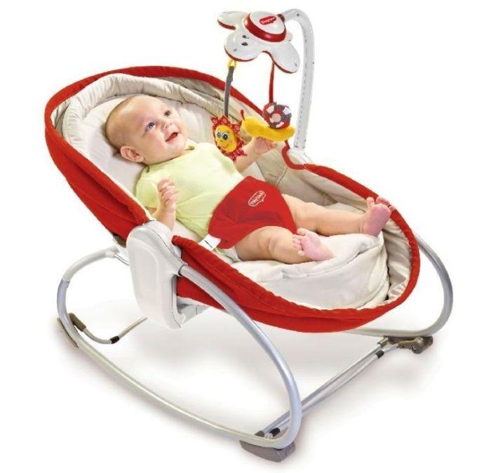 Innowacyjny wielofunkcyjny leżaczek, bujaczek, łóżeczko 3w1 Tiny Love - czerwony