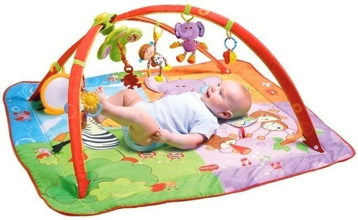 Gimnastyka dla bobasa Move & Play - mata edukacyjna z pałąkami Tiny Love