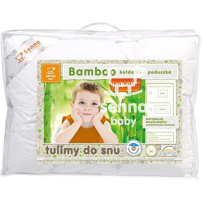 Antyalergiczny komplet dziecięcy kołderka i poduszka Bamboo 135/100 Senna Baby