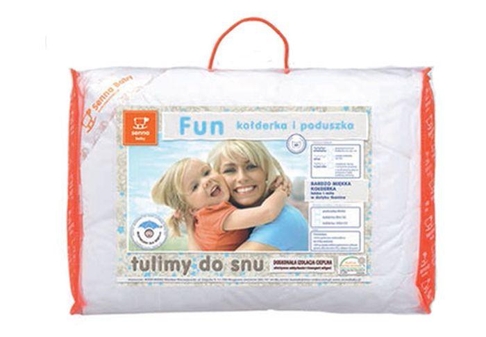 Pościel Senna Baby - miękkie wypełnienie antyalergiczne Fun poduszka i kołderka 90 x 120 cm 4 pory roku