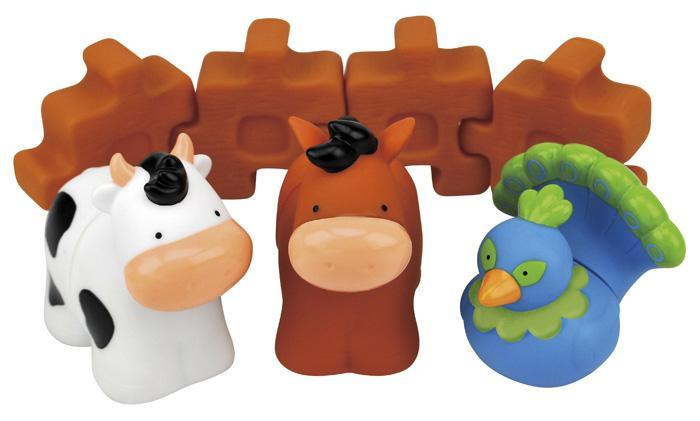 Klocki układanka + zwierzaki K's Kids Farma