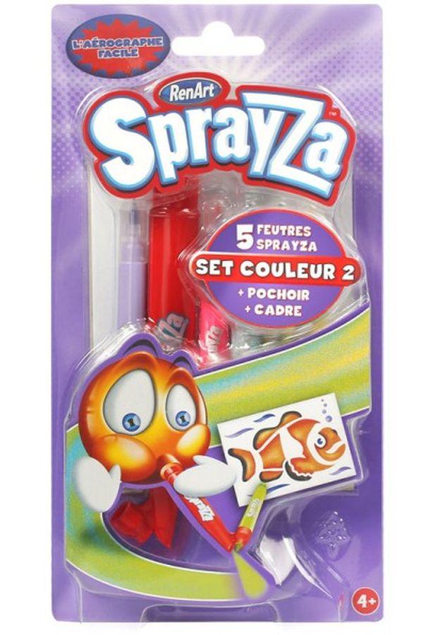 Renart Sprayza - zestaw kolorowy 2 - tuba, 5 flamastrów, szablon