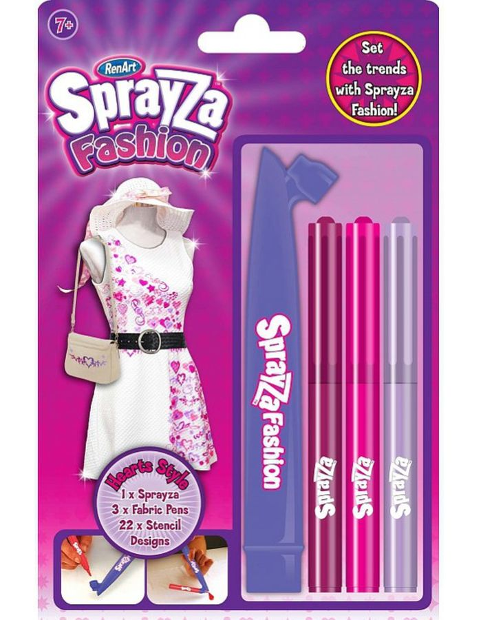 RenArt Sprayza Fashion - zestaw do malowania ubrań Serca - od 7 lat