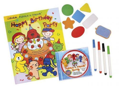 Bardzo duża książeczka edukacyjna urodziny Patryka K'S KIDS + 3 x DVD
