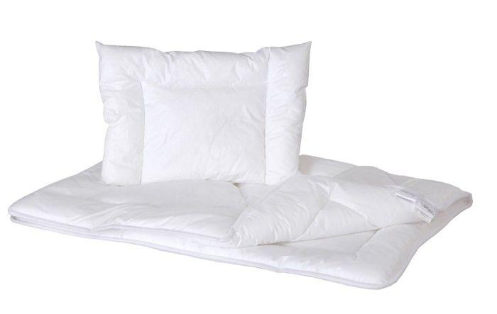 Naturalne wypełnienie letnie dla niemowląt i dzieci kołderka + poduszka 90x120cm  Poldaun