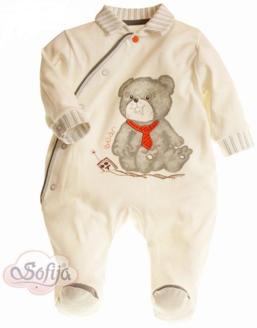 Bielizna dla niemowląt - pajacyk z bawełny 100% - Sofija kolekcja Szaruś 62