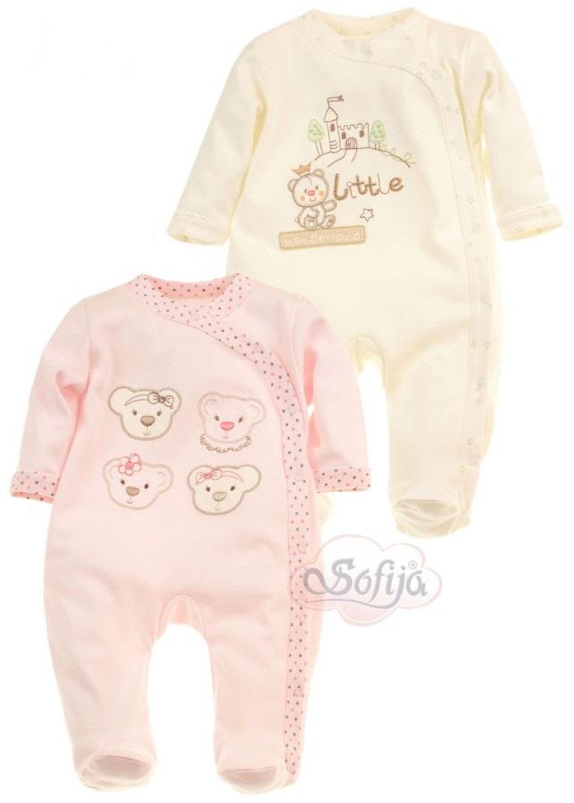 Wysokiej jakości pajacyk niemowlęcy Sofija Chrupcia 100% bawełna - rozmiar 68