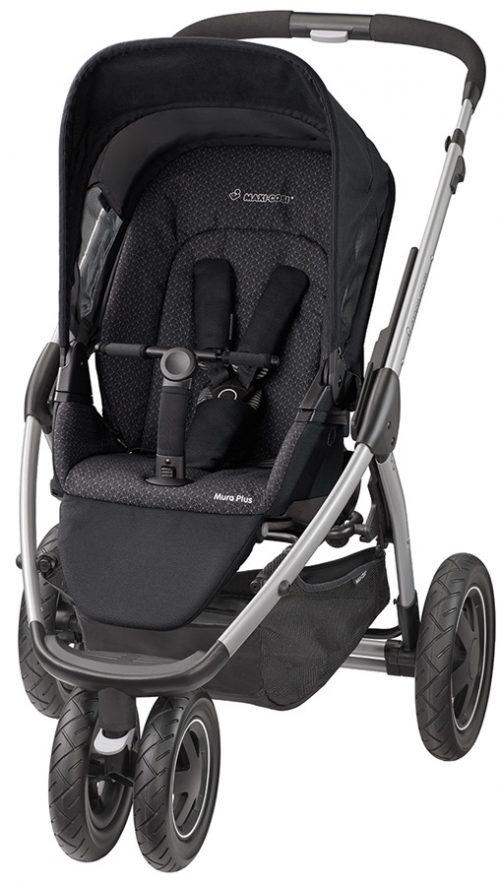 Spacerowy trzykołowy wózek Mura 3 Plus - idealny do miasta jak i na cięższe warunki, Maxi Cosi