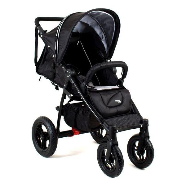 Wózek spacerowy Quad X Valco baby na pompowanych kołach z fotelikiem samochodowym