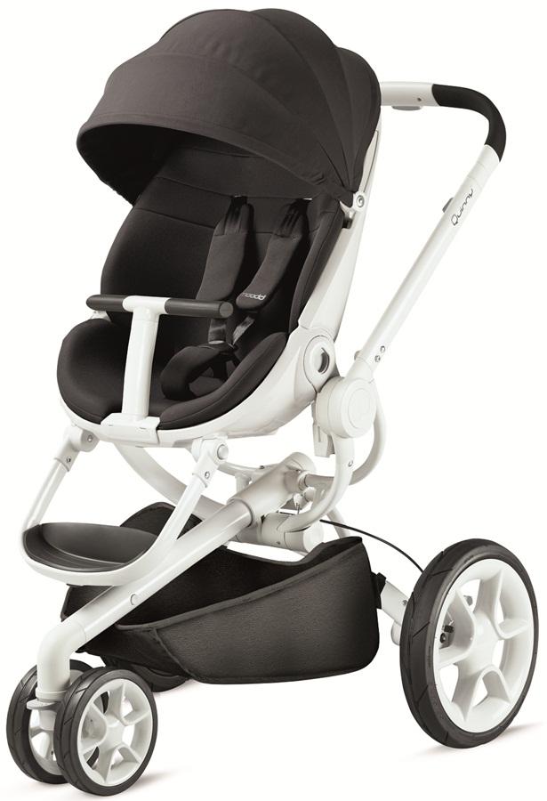 Nowoczesny trójkołowy wózek spacerowy Moodd, firmy Quinny