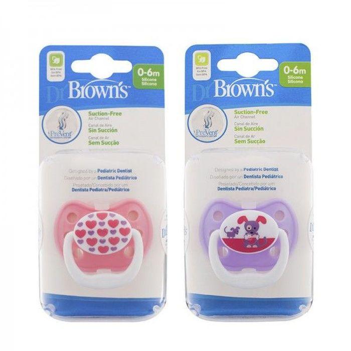 Dr Browns smoczek prevent classic 0-6 miesięcy 1 pak kolorystyka dla dziwczynki