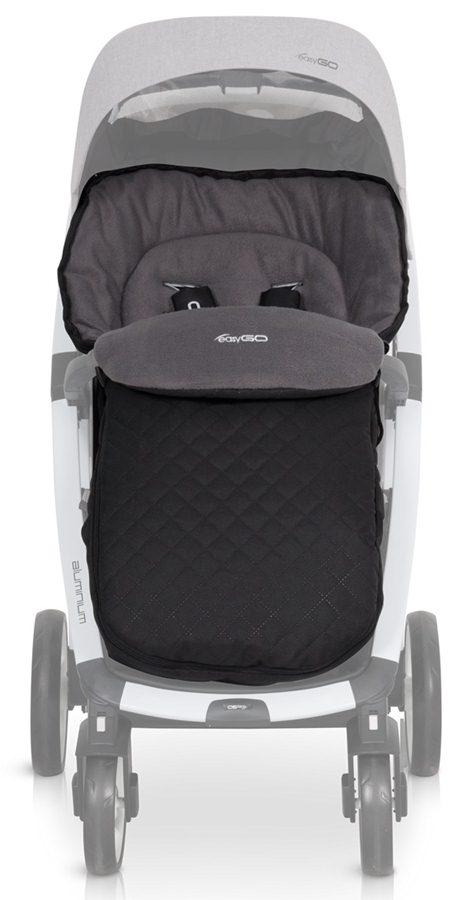 Śpiworek bawełniany do wózków dzieciecych Easy Go czarny