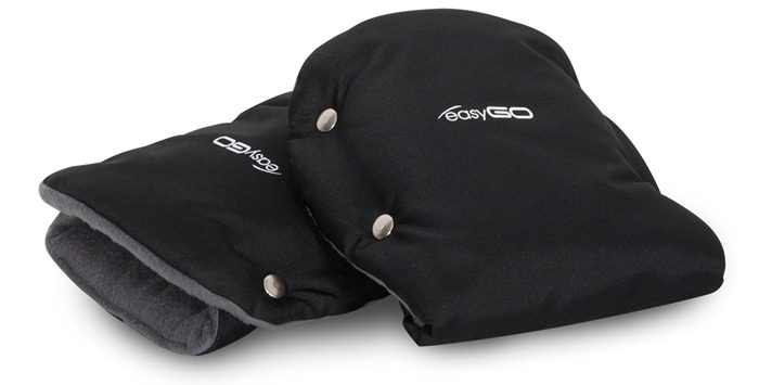 Zimowe rękawiczki do wózka  Mufki Easy Go czarny
