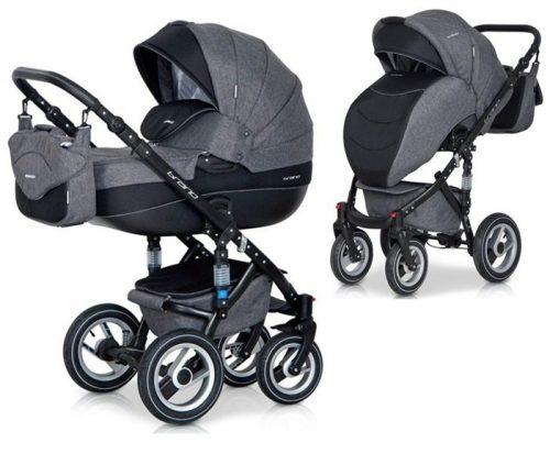 Głęboko spacerowy wózek dziecięcy 2w1 Riko Brano