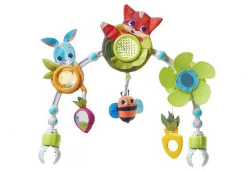 Łuk z zabawkami do wózka, fotelika Zabawa na łące - Tiny Love