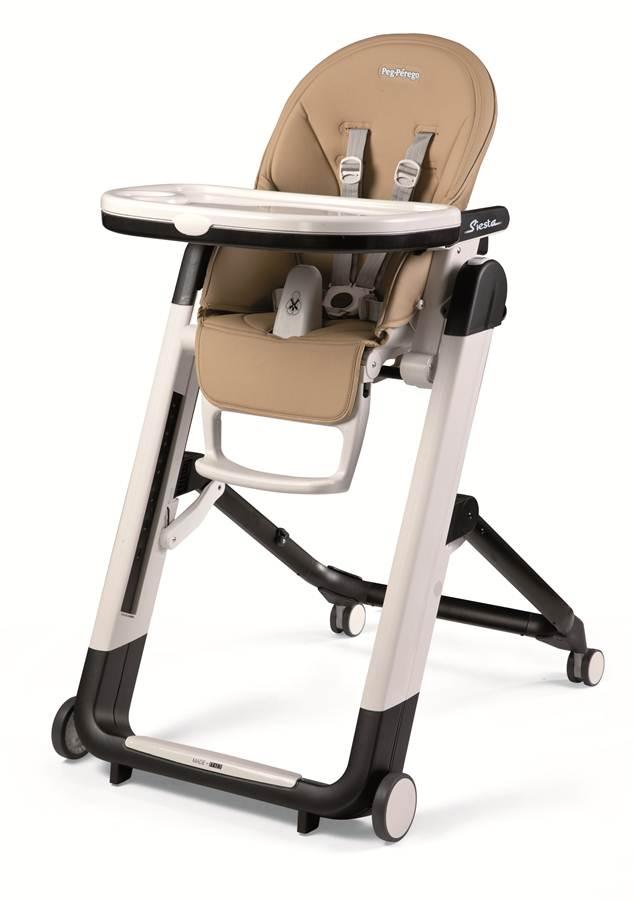 Wielofunkcyjne krzesełko do karmienia Siesta z rozkładanym oparciem i leżaczkiem, Peg Perego