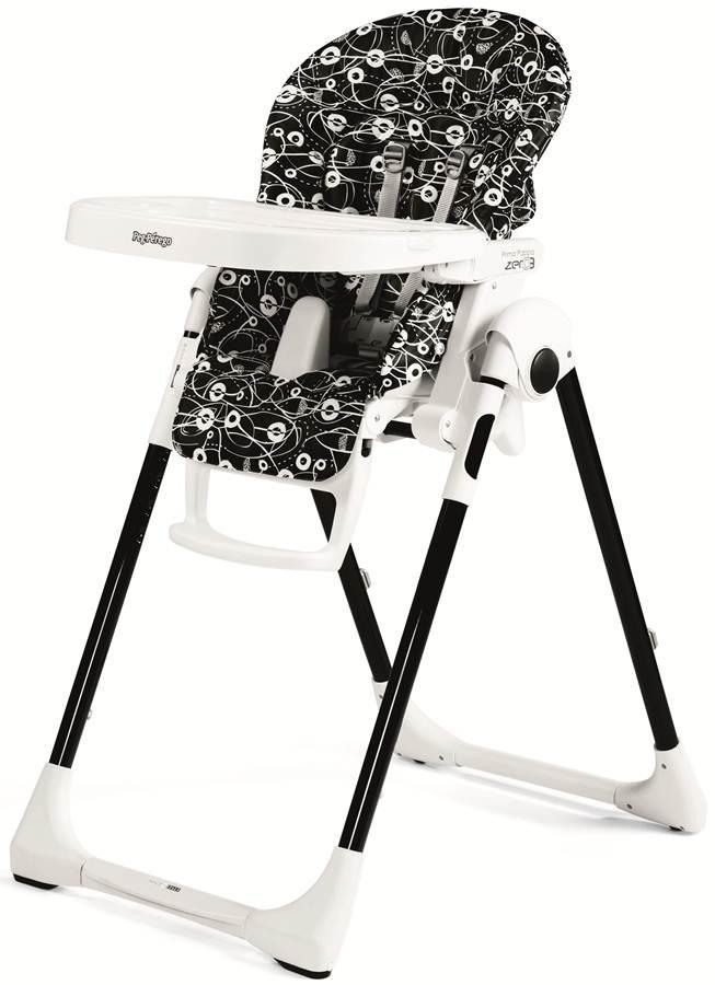 Regulowane krzesełko do karmienia i zabawy Prima Pappa Zero3 Peg Perego z funkcją leżaczka