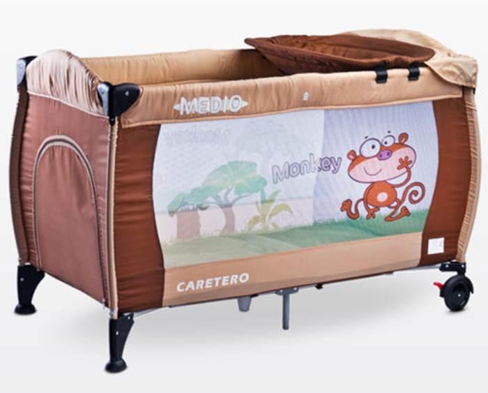 Łóżeczko turystyczne Caretero Medio Safari z przewijakiem