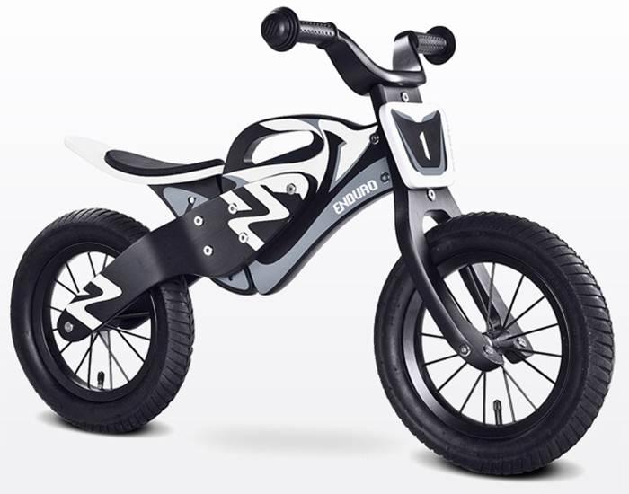 Drewniany rowerek biegowy dla dzieci od 3-6 roku życia Enduro, Toyz