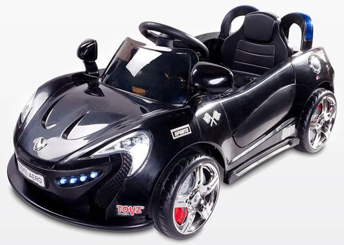 Samochód na akumulator ze światłami LED,melodie, pilot dla rodzica dla dzieci Aero, Toyz