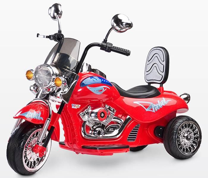 Motocykl Rebel na akumulator dla dziecka + pilot dla rodzica, Toyz