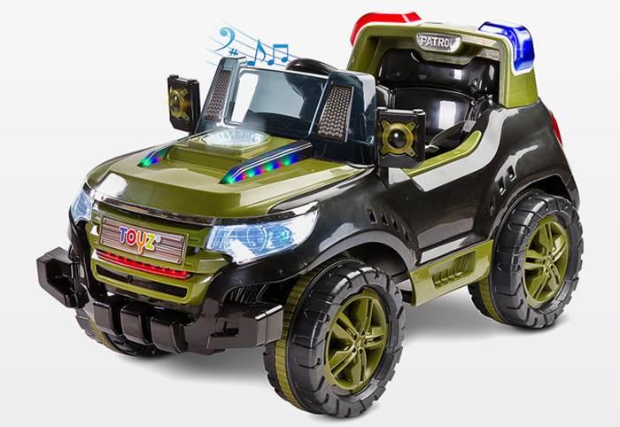 Pojazd Patrol na akumulator dla dziecka + pilot dla rodzica, Toyz