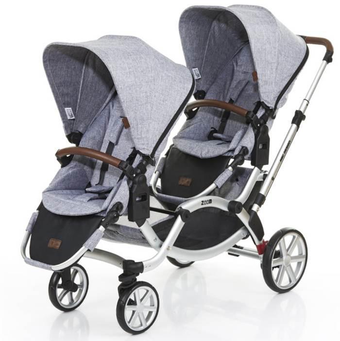 Wózek bliźniaczy spacerowy lub dla rodzeństwa Zoom, Abc Design