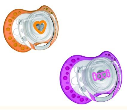 Silikonowy smoczek uspokajający wspomagający zdrowy proces ssania Spark Lovi 3-6m 2szt. bez bisfenolu A