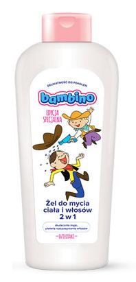 Żel do mycia włosów i ciała Kowboj 400ml Bambino