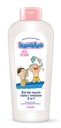 Żel do mycia włosów i ciała 400ml Łódź Bambino