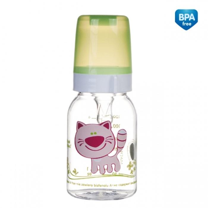 Butelka Canpol Babies 120 ml ozdobiona kolorowymi nadrukami ze zwierzakami