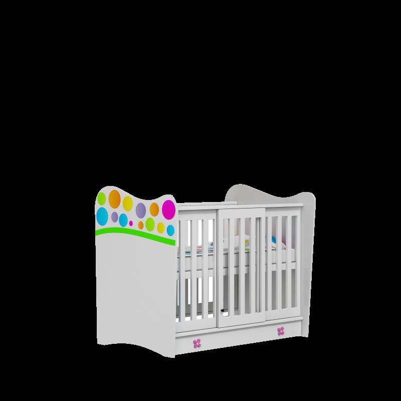 Łóżeczko niemowlęce Rainbow 120x60 Baby Best