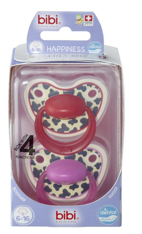 Bibi smoczek ortodontyczny Happy Tiger Swiss Duo 6-16 sterylizator podręczny gratis