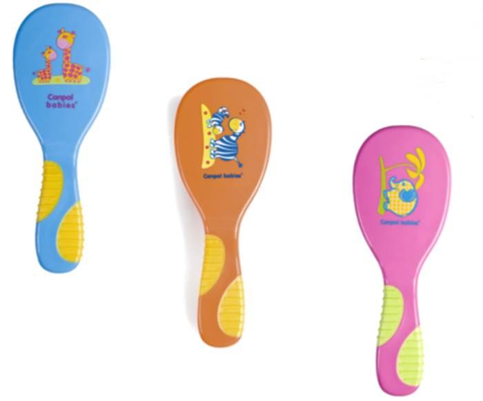 Szczotka do włosów dla dzieci z miękkiego sztucznego włosia Canpol Babies Zoo + grzebyk