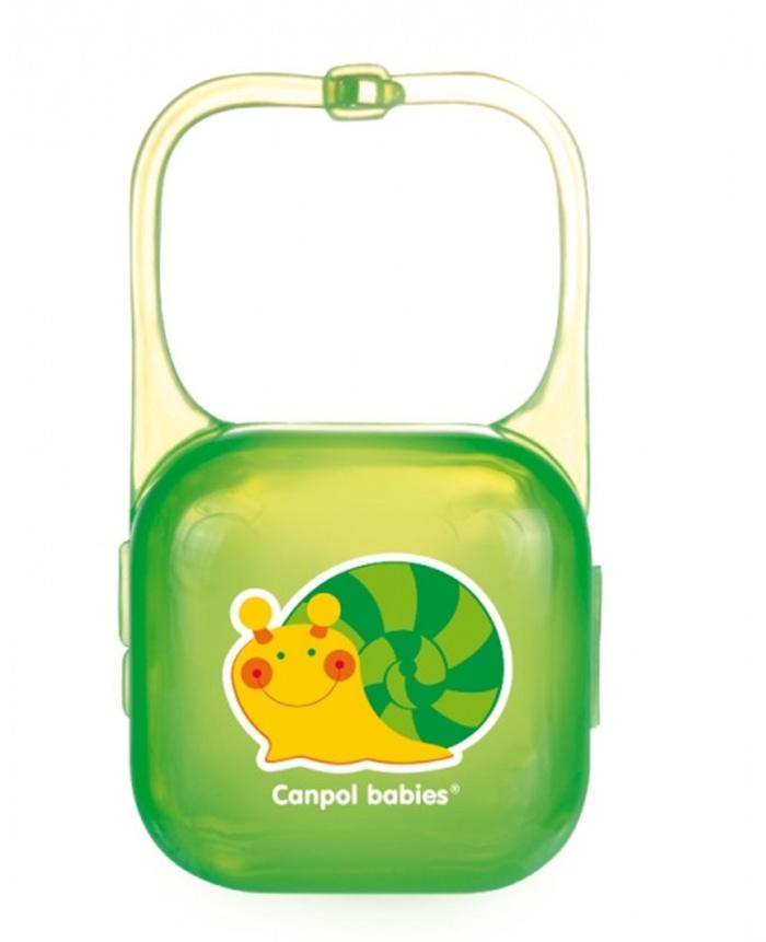 Pojemnik na smoczek do przymocowania do łóżeczka wózka lub fotelika Canpol Babies - Wesoły ogród
