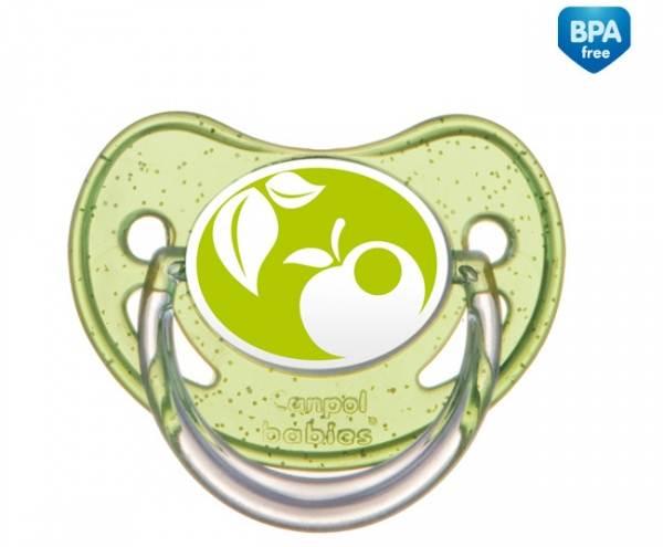 Anatomiczny smoczek silikonowy do uspokajania Canpol Babies Nature 18m+