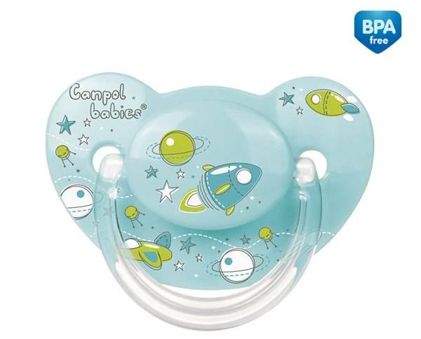 Smoczek silikonowy anatomiczny Maszyny 6-18 miesięcy Canpol Babies