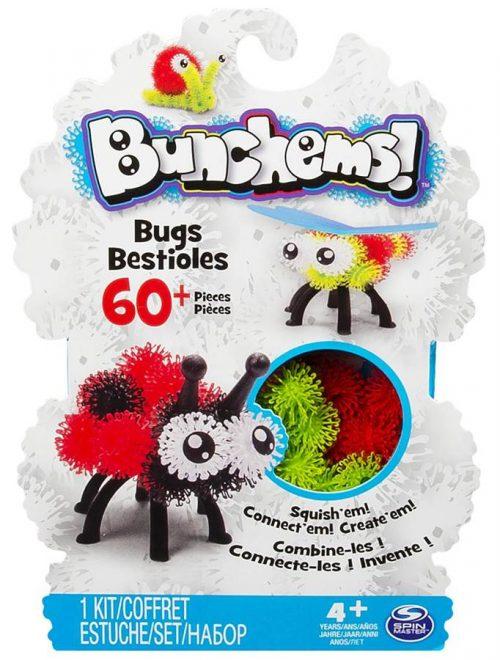 Kolorowe rzepy do kreatywnej pracy, miękkie klocuszki 60 elementów, Bunchems