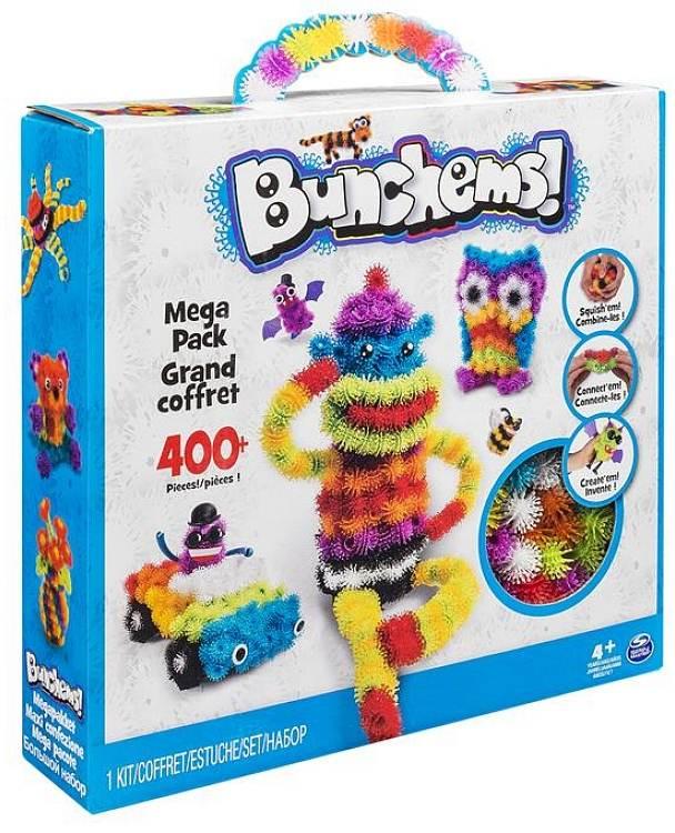 Mega zestaw kolorowych rzepów - aż 406 elementów, Bunchems
