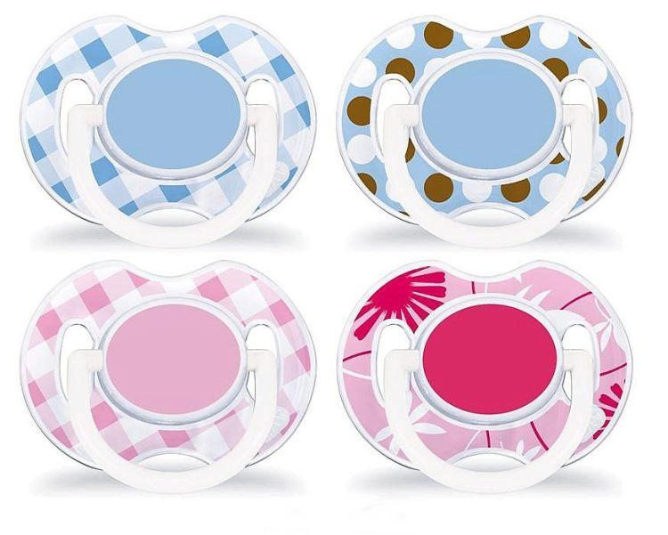 Symetryczne smoczki uspokajające z silikonu 0-6 Fashion Avent - 2 szt