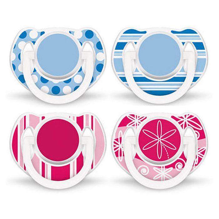 Symetryczne smoczki uspokajające z silikonu 6-18 Fashion Avent - 2 szt