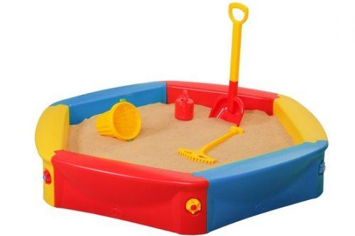 Plastikowa piaskownica dla dzieci + pokrowiec