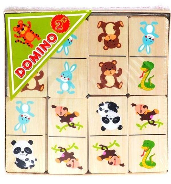 Smily Play Domino drewniane zwierzątka